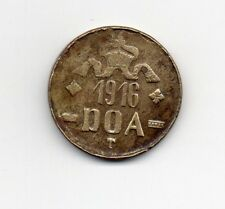 D.O.A.TANGANYIKA 1916 EMERGENCY TABORA  TWENTY HELLER BRASS COIN TYPE B-B DOA113