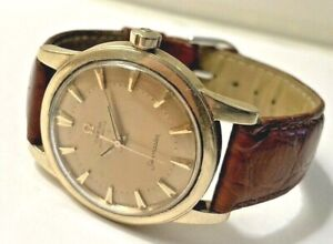 1950's Omega Seamaster14k Gold Filled Swiss Automatic Wristwatch Working!