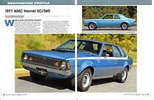 1971 AMC HORNET SC/360 (285 HP) ~ GREAT 6-PAGE RESTORATION ARTICLE / AD