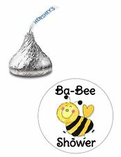 108 CUTE BEE BABY SHOWER HERSHEY KISS KISSES CANDY STICKERS*