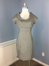 Ted Baker Gray Wool Blend Sheath Dress Career Cocktail Cap Sleeve size 3 S