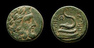 AE19 Pergamon - Mysia AΣKΛHΠIOY ΣΩTHΡOΣ