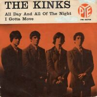 "THE KINKS ~ All Day And All Of The Night ~1964 Danish 2-trk 7"" vinyl single~p/s"