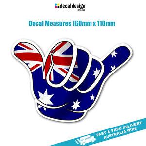 Shaka Aussie Flag Sticker 16cm Wide no worrie JDM car bumper window sticker