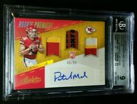 BGS 9/10 POP 2 PATRICK MAHOMES II RC AUTO /99 1/1 SUBS *SSP ROOKIE 2017 Absolute