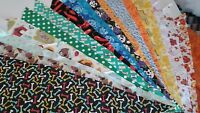 12 Dog Grooming Bandana/Scarf Tie On Custom made by Linda Tie On  M