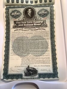 1897 New York Central and Hudson River $1000 Bond w/55 Coupons