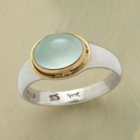 Vintage 925 Silver  Green Moonstone Ring Women Bridal Wedding Jewelry Size 6-10