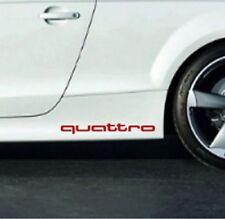 AUDI Quattro Aufkleber  Decal fur window Schwelle sticker Schriftzug S RS S line