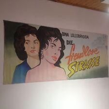 Original Film Plakat handgemalt, Vintage Billboard ,Gina Lollobrigida,