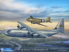 ART PRINT: C-130J and C-47 314 AW- Print by Shepherd