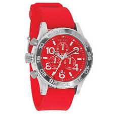 Nixon A038200 Men's Lefty Red Dial Rubber Strap Chrono Dive Watch