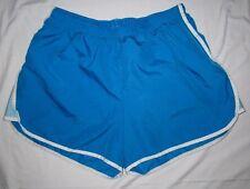 CHAMPION Blue Nylon Stripe Run Gym Lined Sport Athletic Boyshorts SHORTS Women M