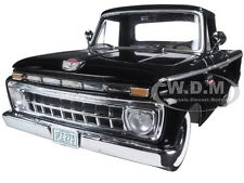 1965 FORD F-100 CUSTOM CAB PICKUP TRUCK RAVEN BLACK 1/18 MODEL BY SUNSTAR 1273