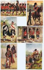 More details for the black watch set of 5 ralph tuck textured finish oilette postcards   no 9994