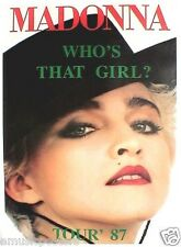 "Madonna ""Who'S That Girl Tour '87"" U.K. Poster - La Isla Bonita, Bolero Hat"