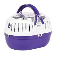 Happy Pet Small Animal Carrier Plastic Travel Cage Hamster Gerbil Rat Ferret