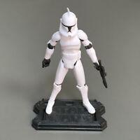 Star Wars The Clone Wars 2008 No. 5 Clone Trooper Aciton Figure Toy & Stand #2