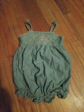 RALPH LAUREN~ Polo Baby Girls Smocked Romper Bubble 12 Months One-Piece Blue
