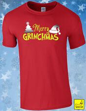 Christmas Grinch T-shirt Xmas Party Present Gift Humbug Films Santa Stocking Tee