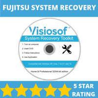 FUJITSU System Recovery Boot Repair Restore CD DVD Disc Windows 10 8 7 Vista XP