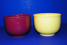 Homer Laughlin Fiesta Mates 2 Jumbo Soup Oatmeal Cereal Bowls Yellow Purple