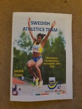 2018 Campeonato Mundial de interior atletismo Suecia guía de medios de equipo