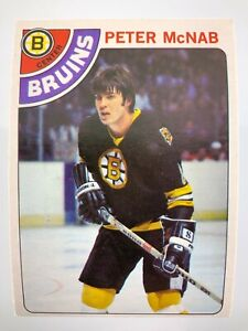 1978-79 Peter McNab 212 OPC Boston Bruins O-Pee-Chee Hockey Card 0201M