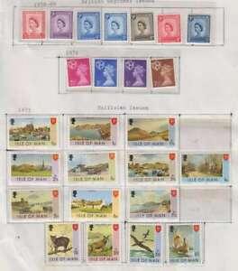 D1225 : Île de Man Tampon Collection,Excellent État, Brochures