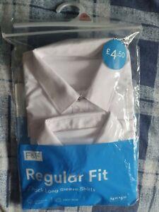 2 Pack Long Sleeve School Shirts Age 8-9