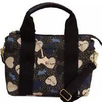 ❤️RADLEY 'hearts' BLACK AND BLUE OILSKIN MULTIWAY GRAB BAG RRP £105