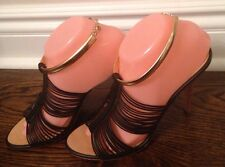 NEW- GIUSEPPE  Zanotti Designer Women's Chocolate Brown Shoes Sandals  EUR 40