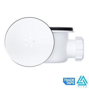 Viva 90mm Hi-Flo Shower Tray Waste Trap & Removable Metal Chrome Cover WTSH90