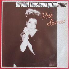 """ROSE LAURENS - MAXI PROMO (12"""") """"OÙ VONT TOUS CEUX QU'ON AIME"""""""