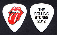 Rolling Stones Keith Richards White Guitar Pick - 2012 50 & Counting Tour