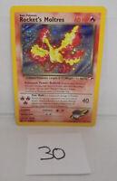 Rockets Moltres Pokemon Card Holo Rare 12/132 Gym Heroes listing #30
