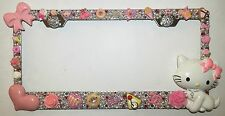 HELLO KITTY CHARMY Stainless Steel license plate frame W Swarovski Crystals