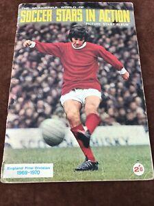 Complete FKS Wonderful World of Soccer Stars Sticker Album 1969/70