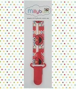 Elmo – Red - Hand Made - Dummy Clip - Pacifier Clips