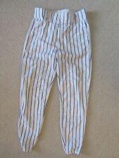 Wilson Men's Medium Wta 4378 Baseball Pants White with Blue Pinstripe Wildri New