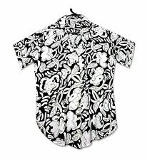 Hana Song Black and Cream Abstract Print Button Down Top-6-S-M