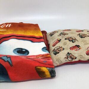 Disney Pixar Cars Rusteze Speed Lightning McQueen Throw Blanket & Throw Pillow