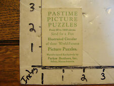 PASTIME PICTURE PUZZLES CARD folded