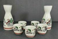 Vintage Ivory Sake Set