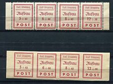 GERMANY SOVIET OCCUPATION ZONE LOCAL ISSUE STRAUSBERG 34-37 A+B IN STRIPS MNH