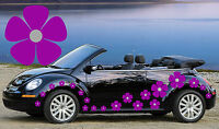 32 Purple & Silver Pansy Flowers Car Decals, Stickers, Car Graphics, Daisy