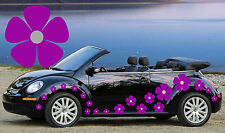 32 Purple & Silver Pansy Flowers Car Decals, Stickers, Car Graphics, Daisy ,Mini