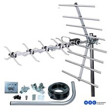 DIGITAL TV AERIAL FREEVIEW TELEVISION ARIAL KIT WITH 4G FILT. 1ST CLASS DELIVERY