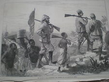 H M Stanley in Africa searching for Livingstone 1872 old prints my ref S