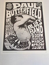 FD003 QUICKSILVER & PAUL BUTTERFIELD CONCERT POSTER by WES WILSON